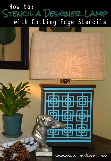 how to stencil a designer lamp