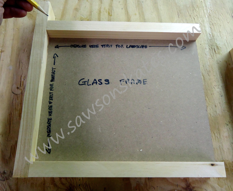 diy no miter cut picture frame