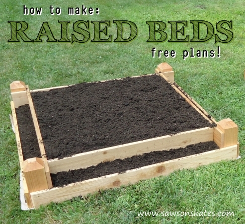 How to make a diy raised garden bed for Raised bed garden designs plans