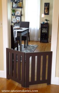 I love these DIY dog projects - I'm making this DIY dog gate for my pup!