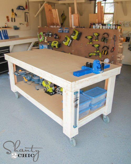 diy garage workbench ideas - 5 Workbench Ideas for a Small Workshop