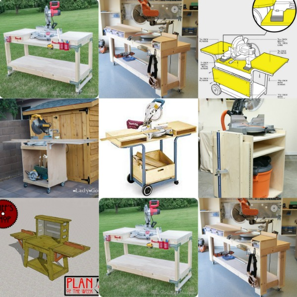 6 DIY Space-Saving Miter Saw Stand Plans for a Small Workshop