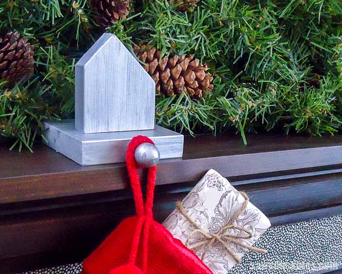 Make DIY stocking holders for FREE with scrap wood! These are quick and easy to make. Perfect for your mantel or as handmade gift that looks you spent more!