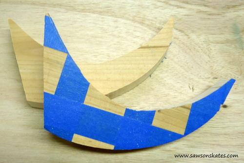 Mid Century Modern Scrap Wood Eye Sculpture - eyelids cut