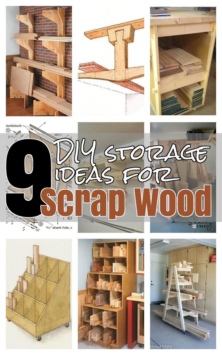 9 Diy Ideas For Wood Storage