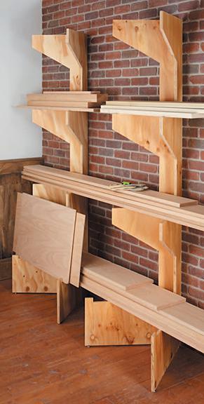 Unique Lumber Storage Rack - By Twobyfour16 @ LumberJocks.com ~ Woodworking Community
