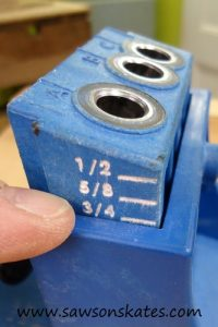 Quick Start Guide: How to setup and use a Kreg Jig to make pocket holes - Set Drill Guide