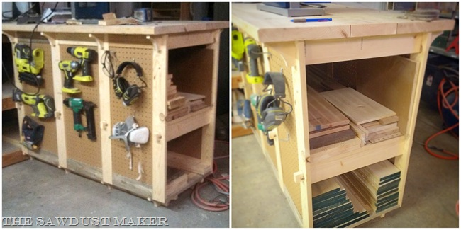 Wood Storage Workbench – The Sawdust Maker