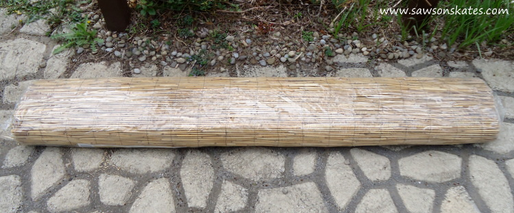 DIY Privacy Fence reed roll