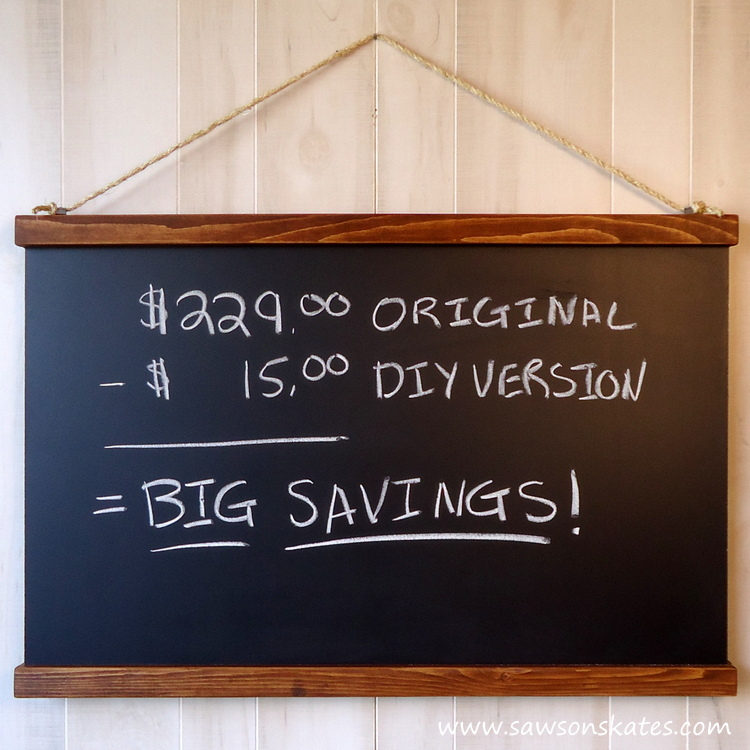 DIY Schoolhouse Chalkboard finished 4 square
