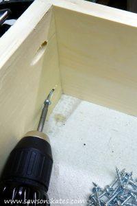 diy dog bed drawer assembly 3