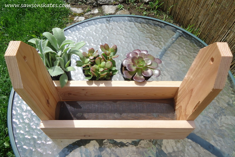 diy tool caddy planter screen
