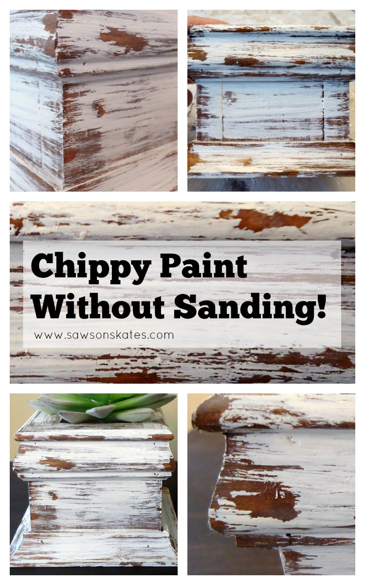 Diy Chippy Paint Look Without Sanding