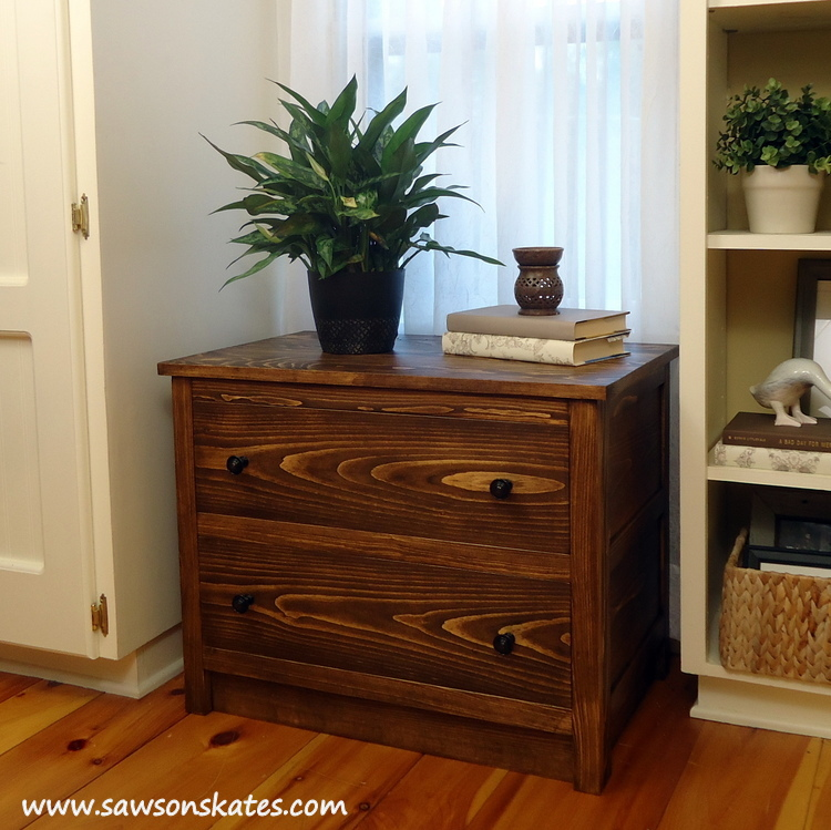 "This is the ""coolest"" DIY dresser you'll ever build! It's the shell of a dresser that slides over an air conditioner when not in use. It's like a cozy for your a/c!"