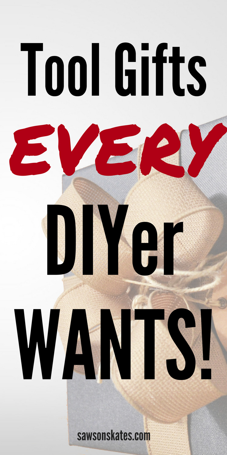 """Looking for the best tool gift ideas and stocking stuffer ideas? Here's a list of the """"gotta have it"""" tools and awesome products for the DIYer and DIY furniture builder on your gift giving list!"""