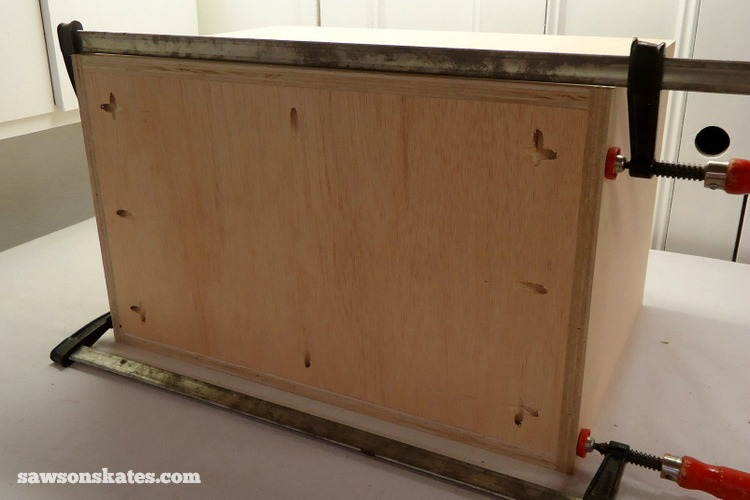 DIY Mid-Century Modern Nightstand - back