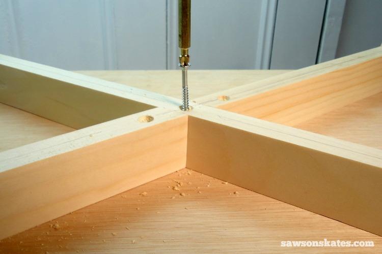 DIY Mid-Century Modern Nightstand - legs 3