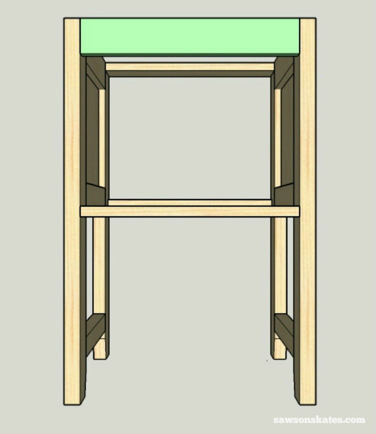 Small DIY Bathroom vanity plans - assemble the carcass 3