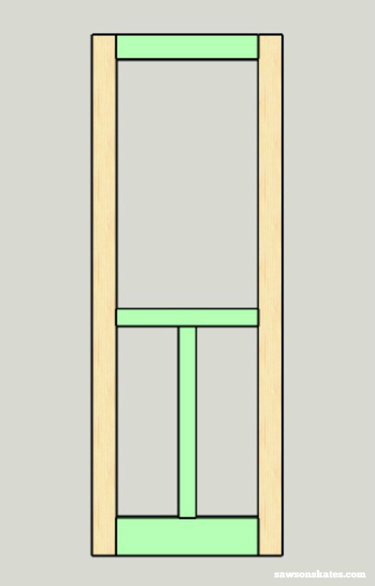 Looking for screen door ideas? Build your own wooden DIY screen door with these plans - assemble the frame