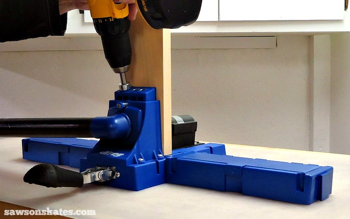Essential Tools - a Kreg Jig makes building DIY furniture easy