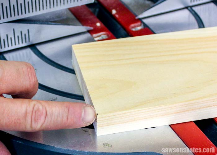 Leaving the pencil line when making miter saw cuts allows you to fine tune the cut if you need the board to be a little shorter.