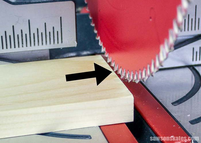 Use the miter saw blade to make micro adjustments.