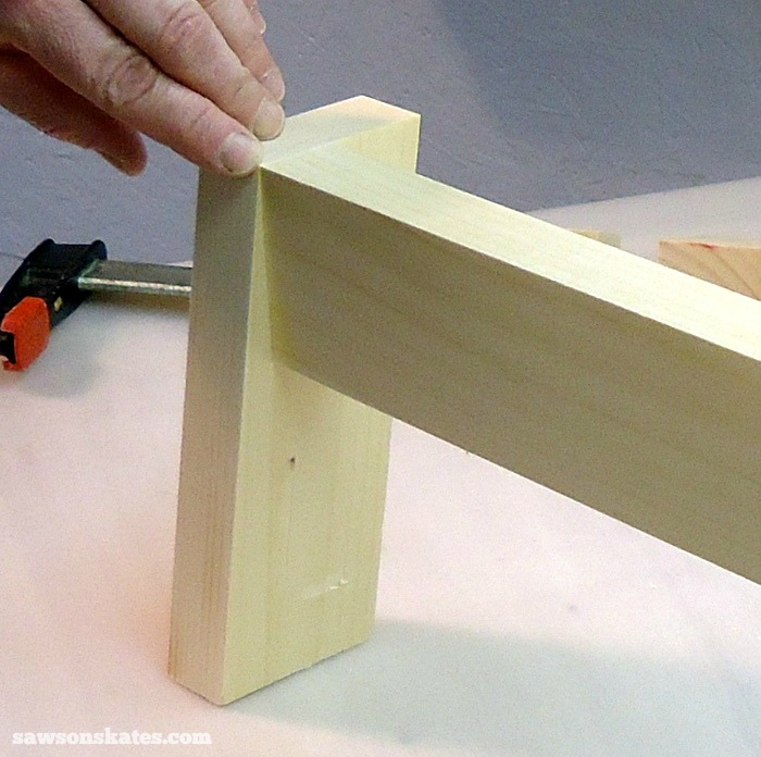 Clamp in position and attach using 1-1/2