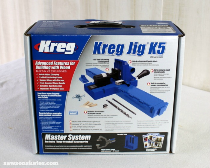 Kreg Jig K5 Master System included the Kreg Jig, drill bit, driver, project clamp and an assortment of screws.