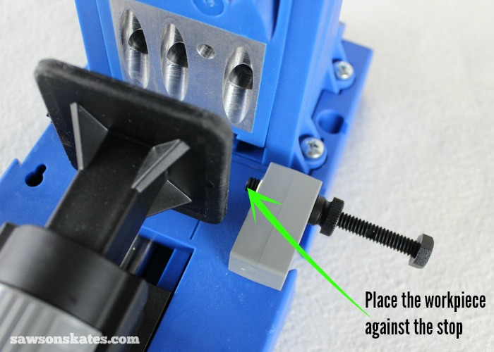 My favorite feature of the Kreg Jig K5 is the handy workpiece stop