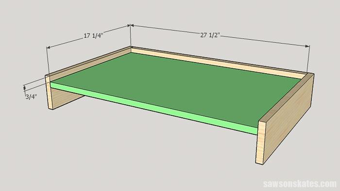 DIY ladder desk - cut and attach the desk top