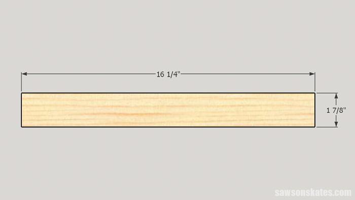 DIY ladder desk - cut the drawer box sides