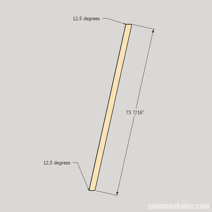 DIY ladder desk - cut the front legs