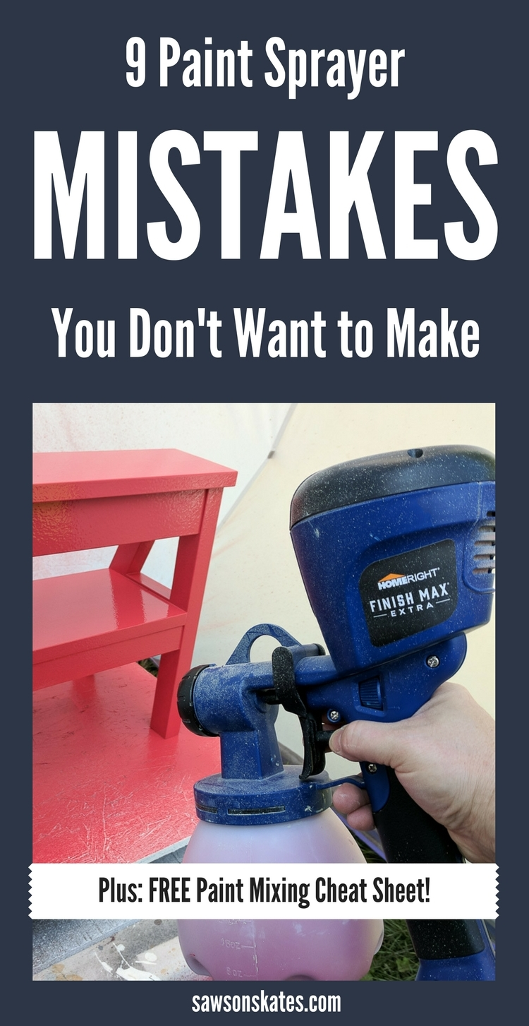 Paint sprayer mistakes can happen, but when used properly it produces a smooth, professional finish. And once you learn these tips you'll never want to pick up a brush again! A paint sprayer makes quick work of any painting project like walls, ceiling, kitchen cabinets, DIY furniture and more.