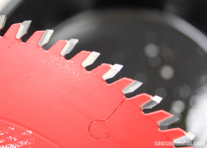 Saw blade teeth are shiny and appear like new after apply saw blade cleaner