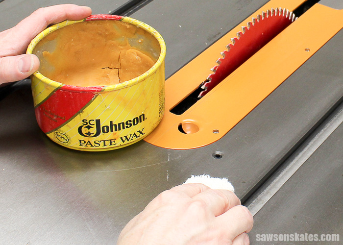 Workshop Problems Solved - Wax your table saw to reduce friction