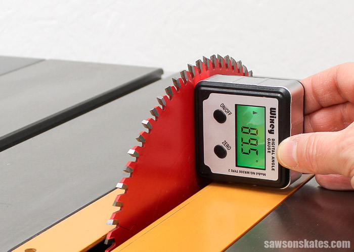 Tune Up Your Table Saw - Use a digital angle gauge to precisely set your table saw blade angle