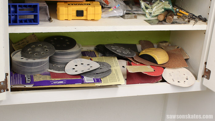 Sandpaper Storage Solution - my sandpaper storage was a disaster!