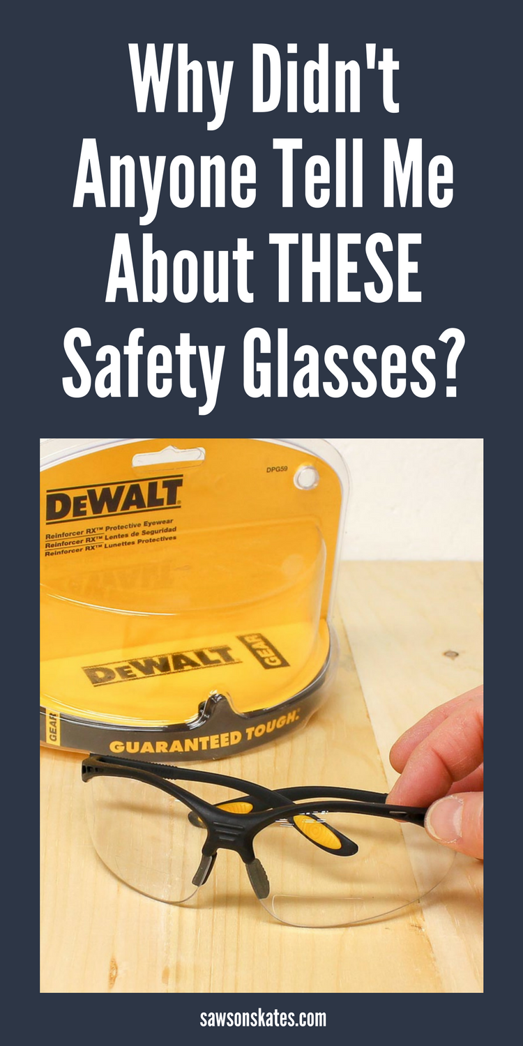 We must protect our eyes when building DIY projects, but sometimes we also need reading glasses for detail work. These no prescription required bifocal safety glasses fit both women and men, offer needed eye protection and magnification. Plus they include a storage sleeve. #safetyglasses #woodworkingtips #woodworking
