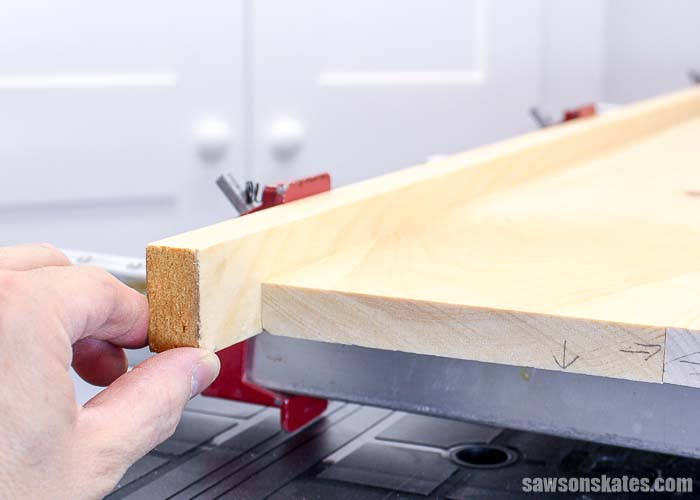 Use scrap wood as clamping cauls to protect DIY projects while assembling