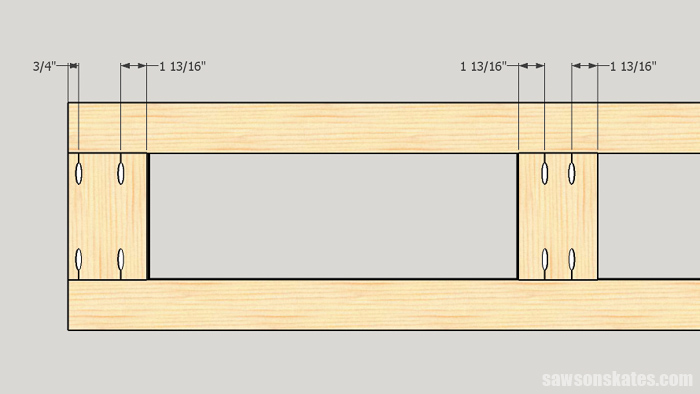 Make a Door with Pocket Holes - drill the pocket holes