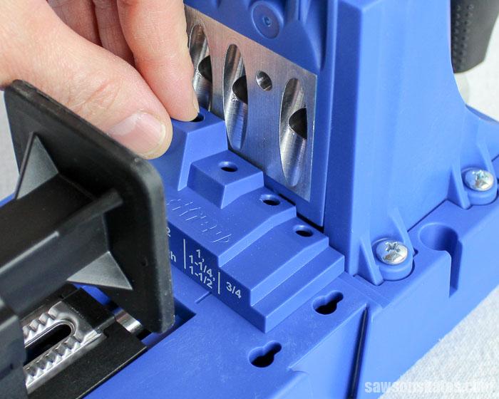 Prevent Rough Pocket Holes - The Kreg Jig K5 uses a depth collar setting block to set the depth collar