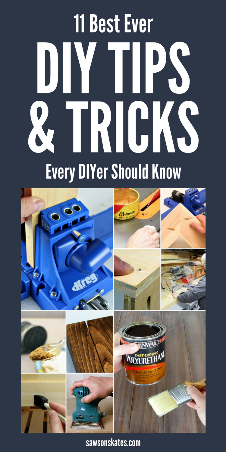 From why you should wax your table saw to pocket hole mistakes you don't want to make these are 11 of the best DIY tips and tricks every DIYer should know! #woodworkingtips