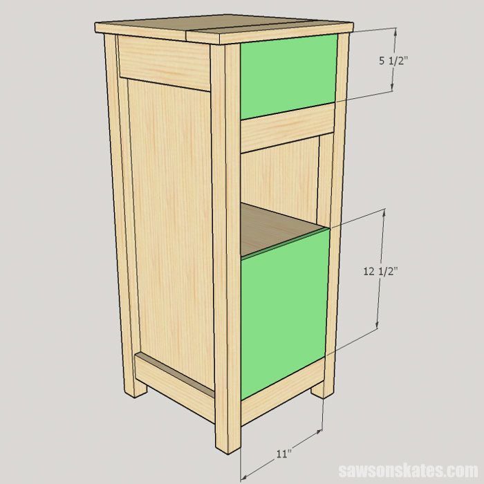 DIY Wine Cabinet - install the back panels