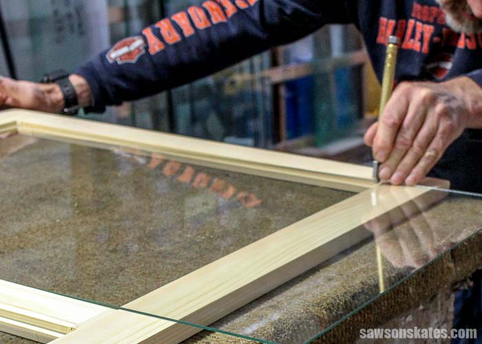 Window glazing begins with cutting a piece of glass to fit the opening