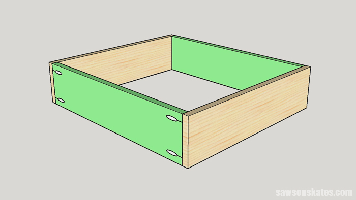 Building a cabinet drawer