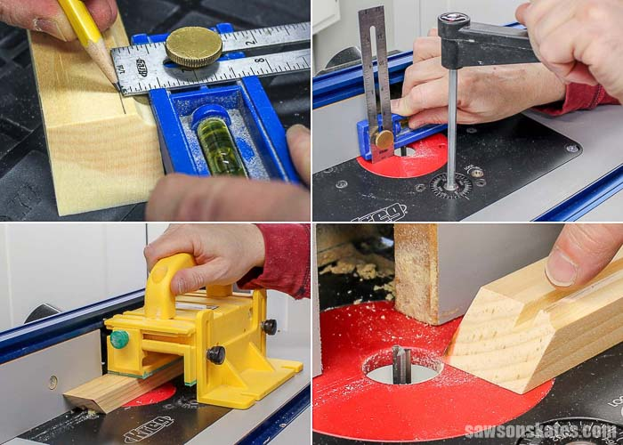 Using a router lift to cut a groove into picture frame moulding