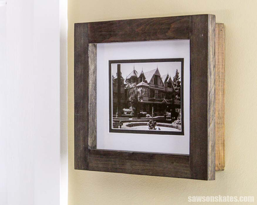 These DIY picture frames are easy to make with inexpensive wood and basic tools.