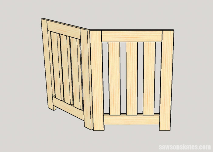 Attaching hinges to a DIY dog gate