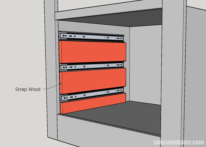 Installing drawer slides for DIY drawers