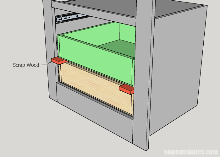 Installing a DIY drawer in the middle of a builtin cabinet